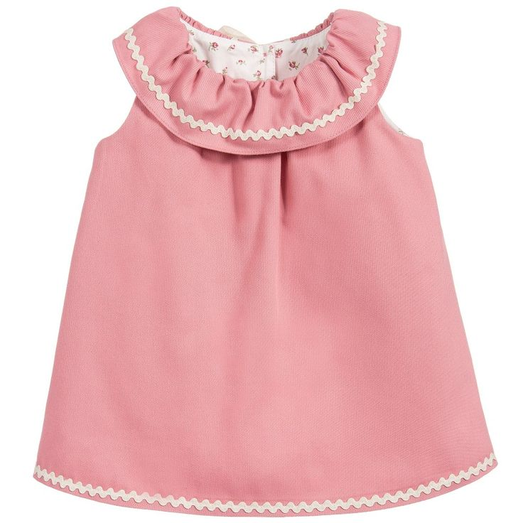 Nanos Baby Girls Pink Dress & Floral Knickers Set at Childrensalon.com