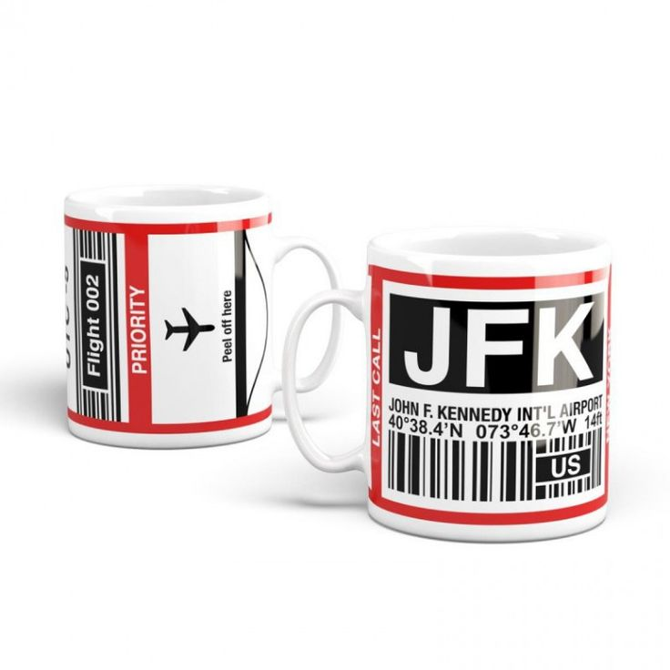 Take the plane... without living your home // JFK-Airport branded mugs