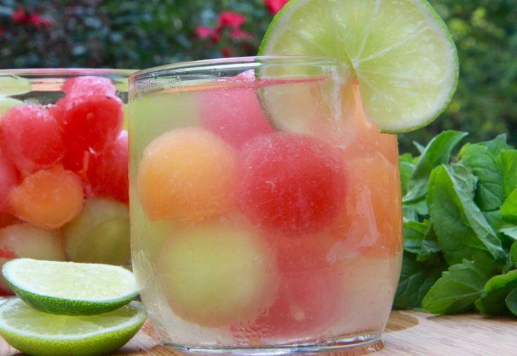 melón bola receta sacador sangría blanca virgen
