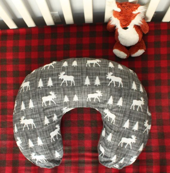 Woodland Forest Boppy Cover // Moose // Trees // by MyLittleDeers