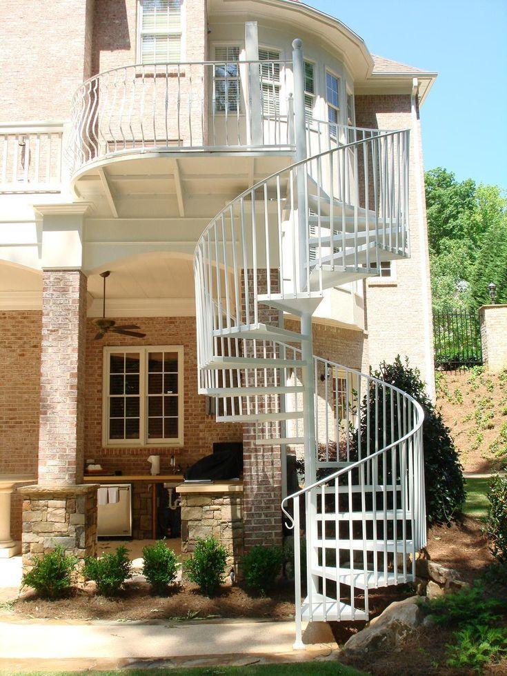 Best Silver Spiral Handrail And Round Brick House Pillar Fancy 400 x 300