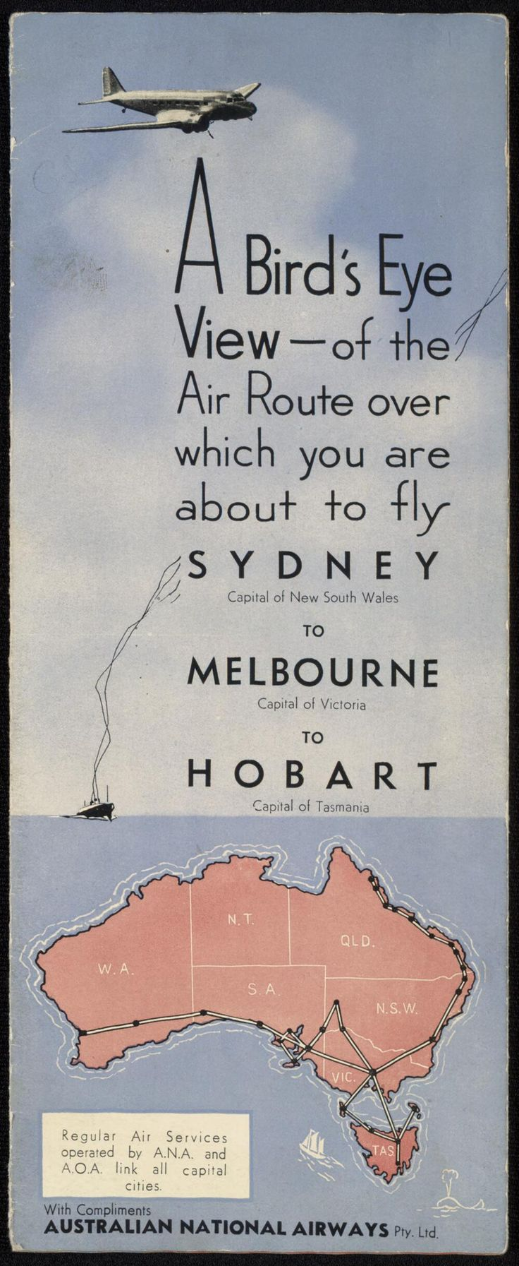 [Australian National Airlines : ephemera material collected by the National Library of Australia].. . - Page 1