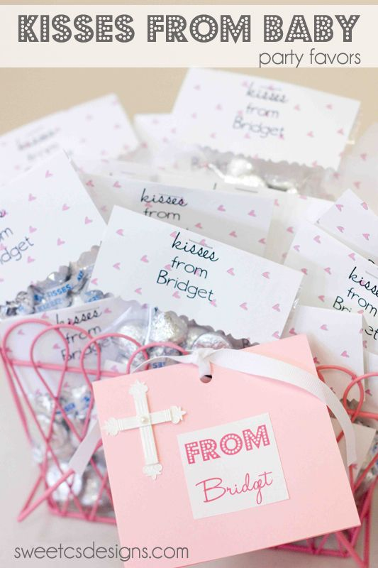 Kisses For Baby Party Favor.. Great Idea As Thank You