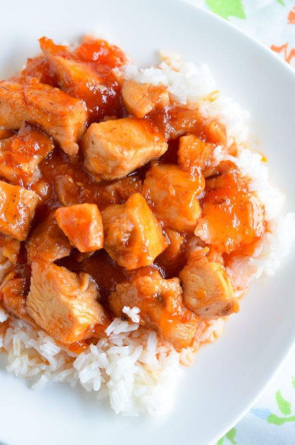 Easy 3-Ingredient Slow Cooker Sweet and Sour Chicken #recipe