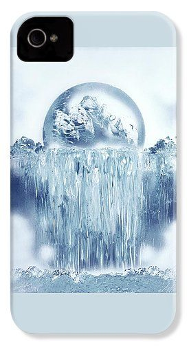 Ice Waterfall IPhone 4 / 4s Case Printed with Fine Art spray painting image Ice Waterfall by Nandor Molnar (When you visit the Shop, change the orientation, background color and image size as you wish)