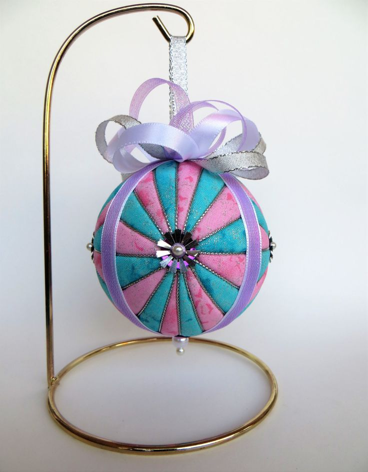 Christmas Ornament - Pink and Blue Glitter Starburst by OrnamentDesigns on Etsy