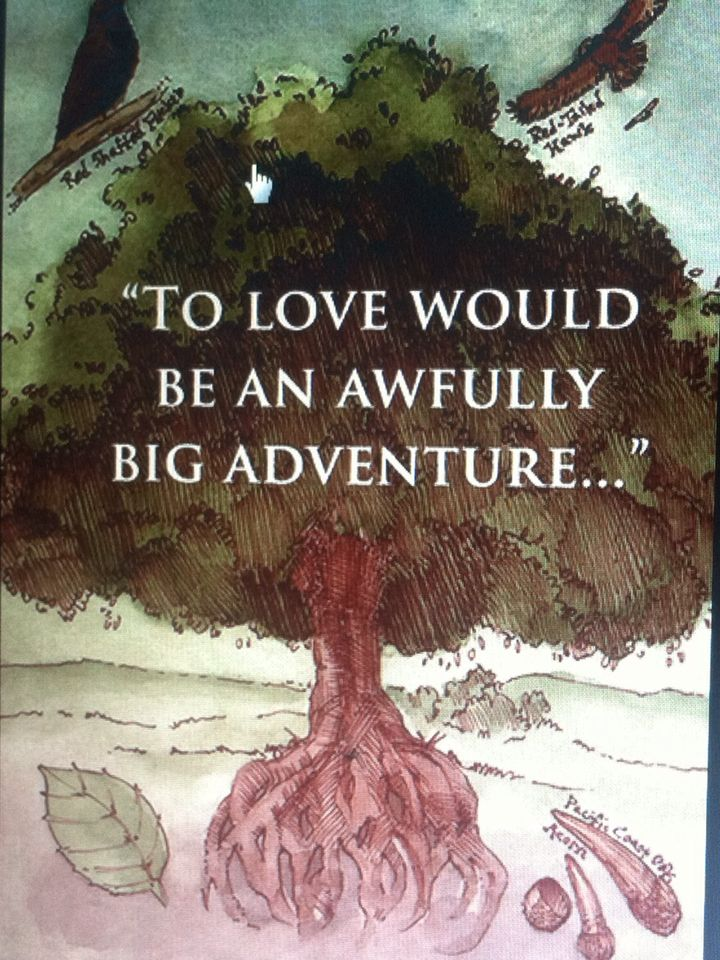 "I love this quote it fits a lord of the rings wedding! Based off the saying from Peter Pan ""To live would be an awfully big adventure."" Just changed one word to make it more meaningful!"