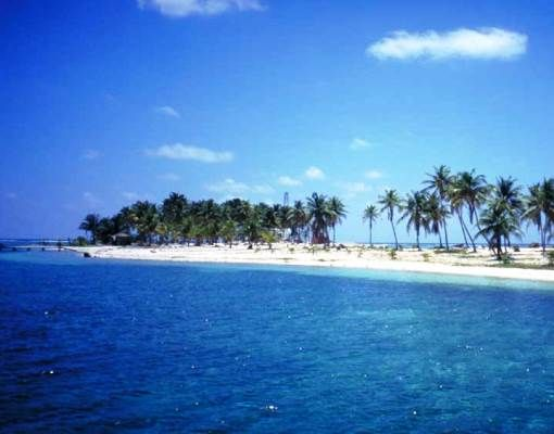 Caulker Caye is one of many on the Belize Barrier Reef