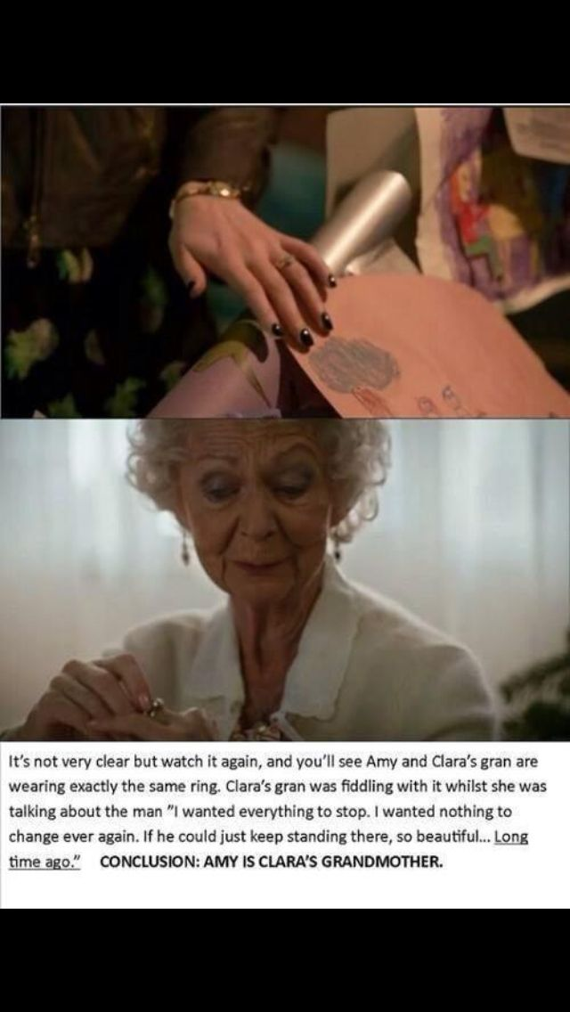 When we say the Weeping Angel wich touched her throw her in NOT the same time like Rory. or the same time but in another City, something like that.. than it could be possible... but than rory will never know that she 'died' for him... but how could she be grandmother? I thought she isn't longer able to give birth to a child since Demons Run..?