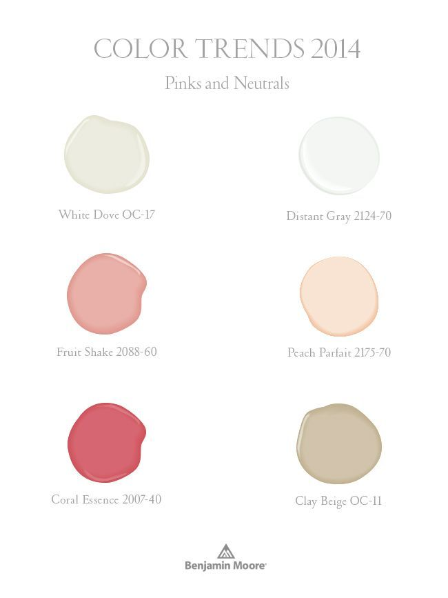 Benjamin Moore Color Trends 2014   pinks and neutrals120 best Paint Colors images on Pinterest   Wall colors  Paint  . Living Room Color Trends For 2014. Home Design Ideas