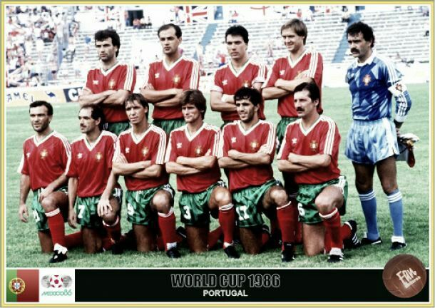 Portugal team group for the 1986 World Cup Finals.