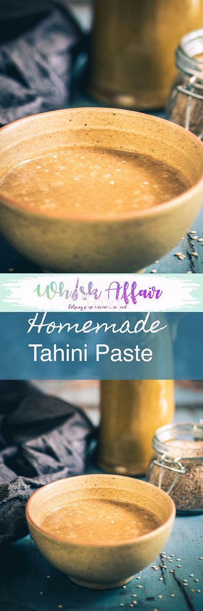 Step by Step and video to make Easy Homemade Tahini Paste Recipe or How to make Tahini at home with just 2 ingredients and ideas to use it. Easy, simple, best, quick, homemade, perfect, middle eastern, mediterranean, video, table top, top shot, tasty style. via @WhiskAffair