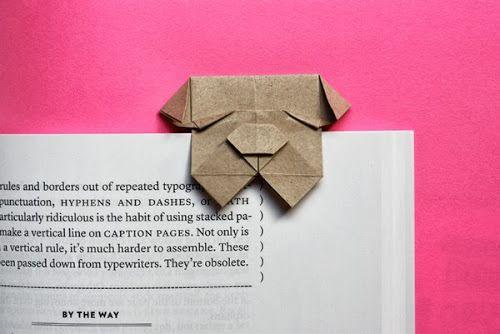 Fold an origami bulldog bookmark   How About Orange