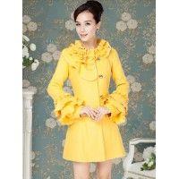 Palton Coquette Yellow