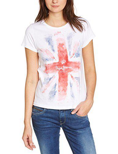 Pepe Jeans Damen T-Shirt Ladies Edition T, 34 (Herstellergröße: Xs), Weiß (White) Pepe Jeans