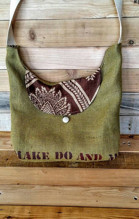 OVER the SHOULDER BAG,Natural Jute,Hobo Bag,Hippie Bag,Vegan Bag,Crossbody Purse,Slouchy Hobo Bag,Crossover Bag,bigbag,double sided,Star