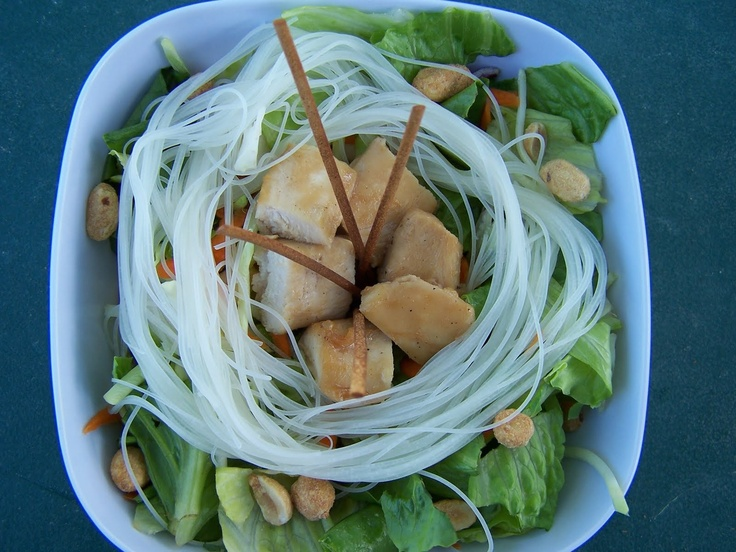 Teriyaki Chicken Salad with Rice Noodles | Yummo Main Dishes | Pinter ...