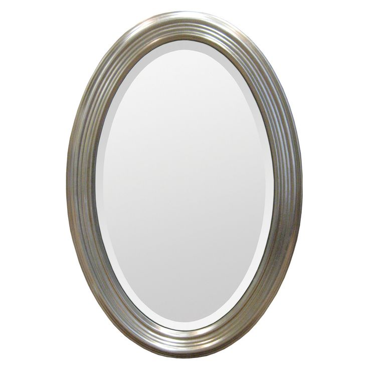 Website Photo Gallery Examples Silver Resin Frame Oval Mirror Overstock Shopping Great Deals on Mirrors