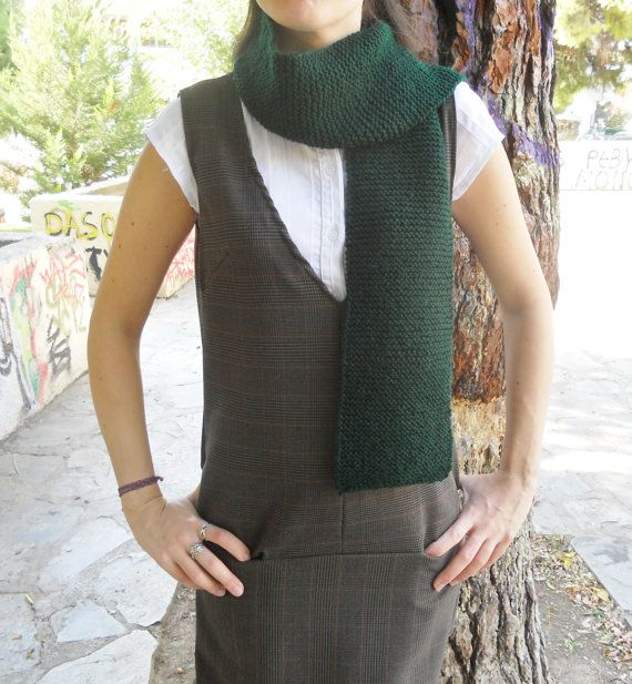 FREE Registered Shipping  Handmade warm knitted dark green by IL2C