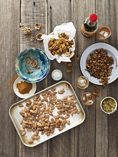 You can find my original Activated Nuts recipe here. This recipe jazzes them up into a bona fide snack food!