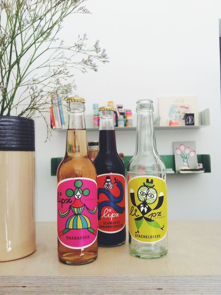 If you are in Leipzig you should drink a Lipz lemonade, they are produced locally and have a lovely packaging design made by the Leipziger artist Christoph Ruckhäberle.   By the way way, you will get one in my little shop ;) (pic taken there) http://www.tschau-tschuessi.de/
