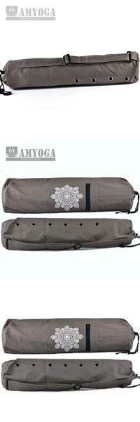 Grey Amyoga Yoga Mat Bag/ Natural Canvas
