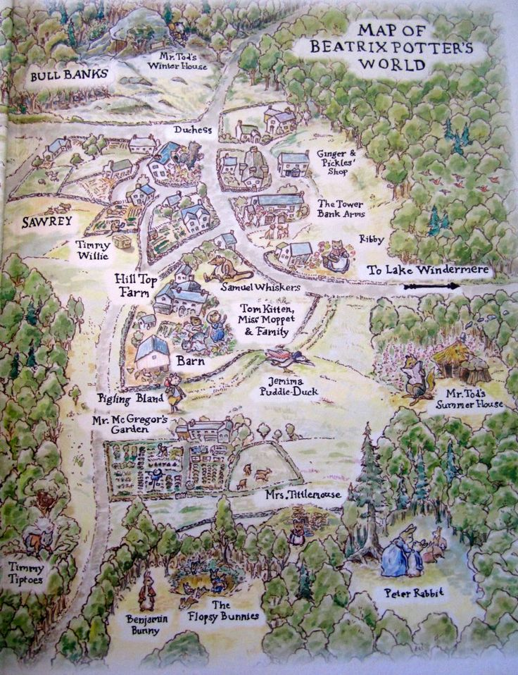 Map of Beatrix Potter's World