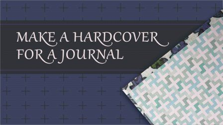 You've learned how to repurpose a vintage journal in my first class, and now you want to know how to make your own hardcover for a journal. Follow this link, I'll show you how!
