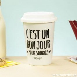 Mug take away - C'est un bon jour pour sourire (FR) - Mugs