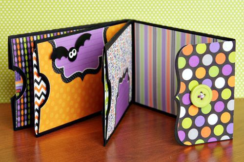 A mini pocket album using cutting files by Lori Whitlock (project designed by Christine Ousley).