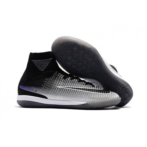 low priced b3115 7ffd5 Nike Fotballsko For Herre MercurialX Proximo II DF IC Svart Grå Hvit
