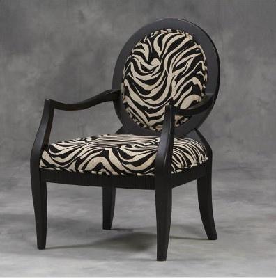 Zebra print chair.