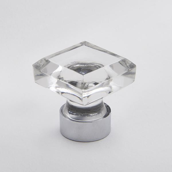Hepburn Hardware | Square Glass Knob - Clear