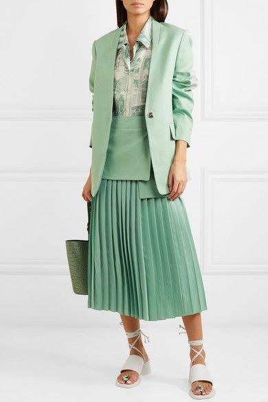 b566bbe855 Pin by Sophia Evlakhina on net-a-porter looks in 2019 | Silk crepe, Midi  skirt, Skirts