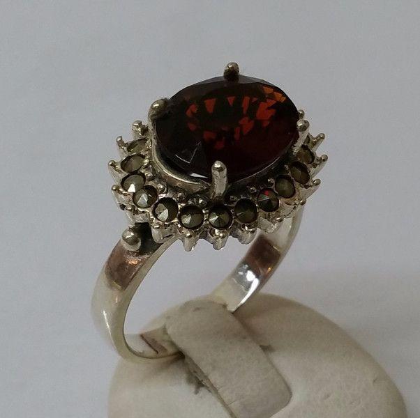 Antiker+Hessonit+Granat+Ring+Markasiten+19,1+SR431+von+Atelier+Regina++auf+DaWanda.com
