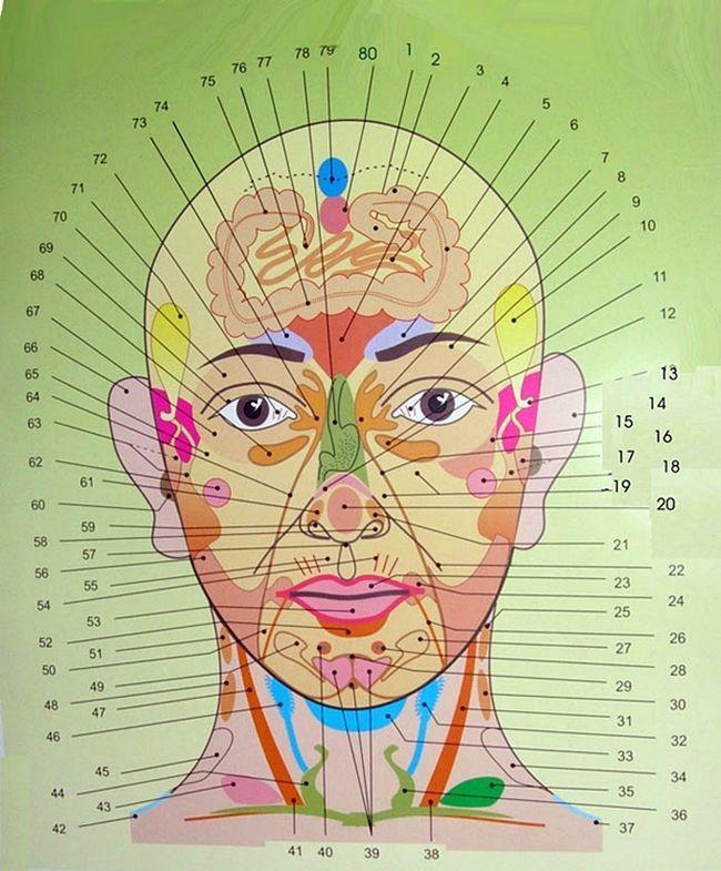 Az arcodon lévő pattanások megmutatják, hogy milyen betegségben szenvedsz. Íme az arctérkép!