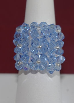 Square flower ring, available in many colors. $35.00
