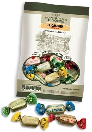 Hard candy made from the finest, all-natural ingredients including Spanish pine nuts, milk, sugar and coffee. No artificial anything. With just the right amount of sweetness, these wonderful caramels are great for anyone with a sweet tooth!  This purely artisan company has been producing its products in the traditional way ever since.  #pinenuts #candies