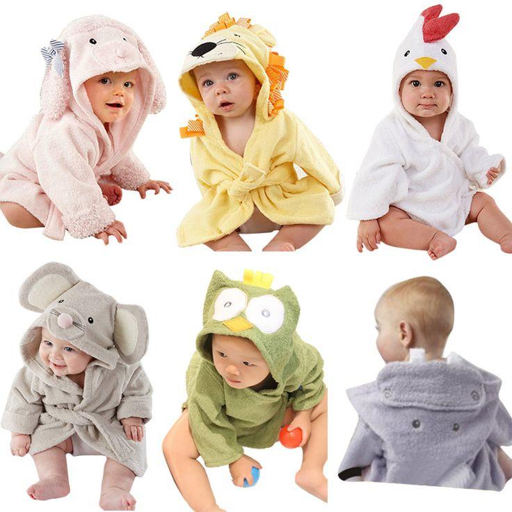 Mode Designs capuche modélisation animale bébé peignoir / Cartoon bébé serviette / caractère enfants peignoir / bébé serviettes de plage YE0001 dans Serviettes de Produits pour bébés sur AliExpress.com | Alibaba Group