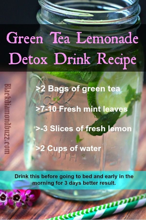 3 DAY Green Tea Lemonade Detox Drink Recipe .Cleanse your liver  and lose weight naturally  with this detox drink.