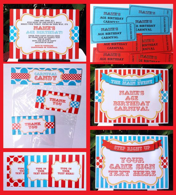 Top 25+ Best Carnival Party Invitations Ideas On Pinterest
