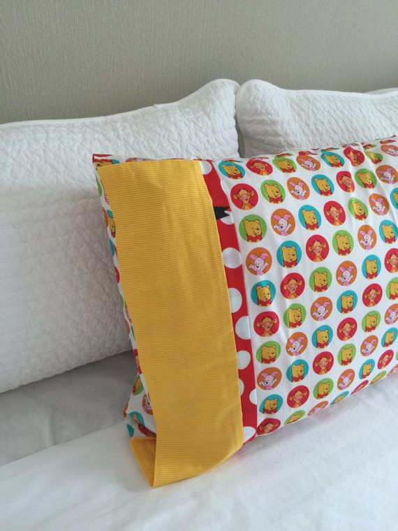 Winnie the Pooh Piglet & Tigger Pillowcase / by kuronekoetsy