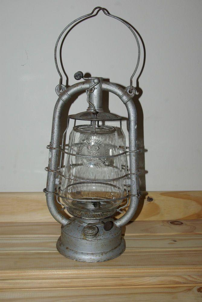 Vintage Rare German Feuerhand 323 Oil Lantern Lamp Oil