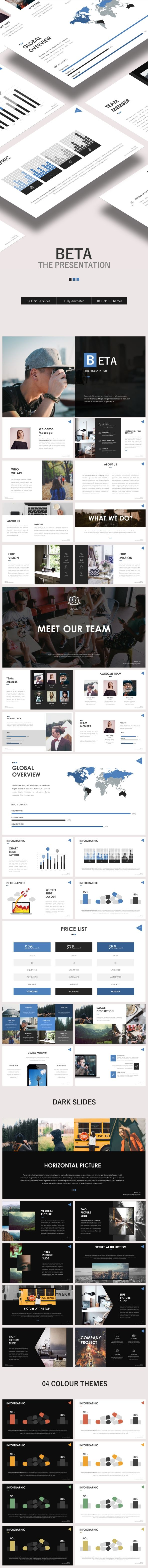 Beta PowerPoint Template — Powerpoint PPTX #triangle #creative • Download ➝ https://graphicriver.net/item/beta-powerpoint-template/19379288?ref=pxcr