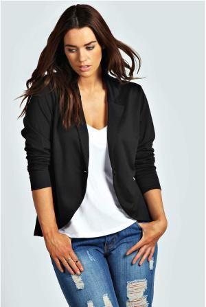 How to Wear It: Black Blazer: Ponte Black Blazer
