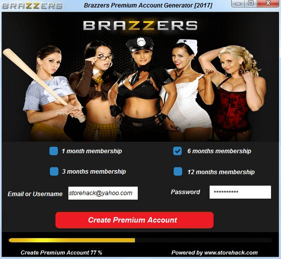 We need to current you a brand new unique software produced by our staff to Brazzers Website. This device identify is Brazzers Premium Account Generator