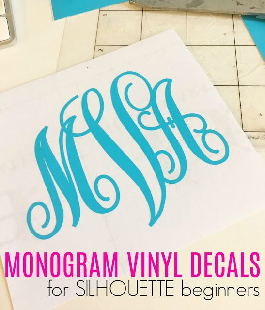 How to Cut a Vinyl Monogram with Silhouette CAMEO