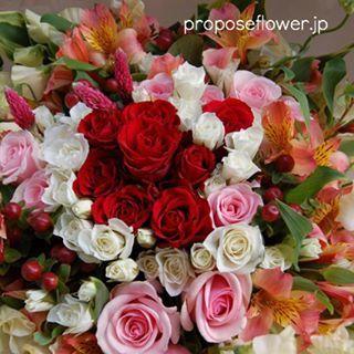#プロポーズフラワー #propose#プロポーズ花束#赤い薔薇 #花屋 #フラワーショップ#プロポーズ #flower #flowers #flowerlovers#flowershop#flowerdesign