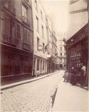 Maison de Nicolas Flamel, 51 rue de Montmorency. Paris (IIIème arrondissement), 1902. Photographie d'Eugène Atget (1857-1927). Paris, musée Carnavalet.