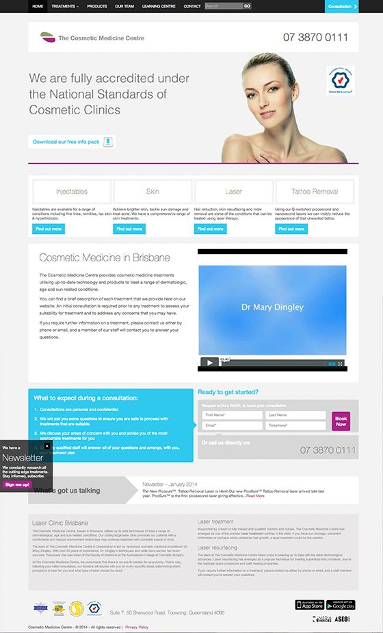Cosmetic Medicine Center website design